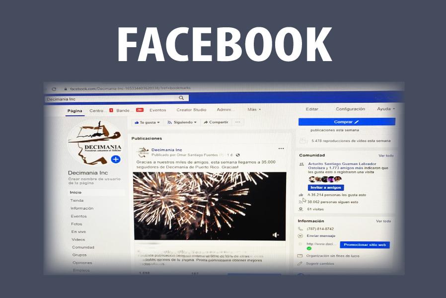 Decimania Facebook